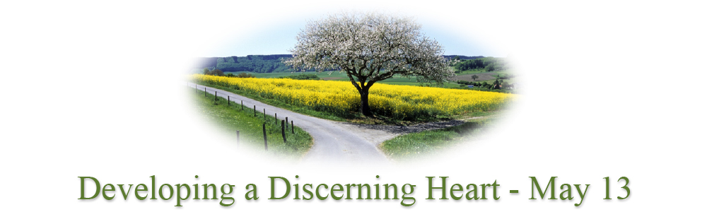 Developing a Discerning Heart - May 13